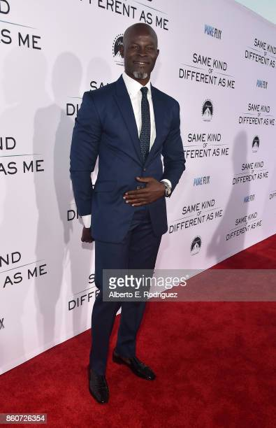 Actor Djimon Hounsou attends the premiere of Paramount Pictures and Pure Film Entertainment's 'Same Kind Of Different As Me' at Westwood Village...