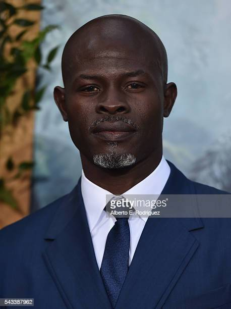 Actor Djimon Hounsou attends the premiere of Warner Bros Pictures' 'The Legend of Tarzan' at Dolby Theatre on June 27 2016 in Hollywood California