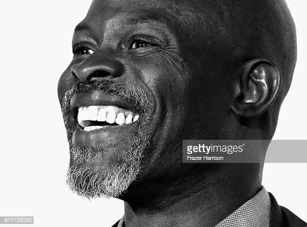 Actor Djimon Hounsou attends the Wayward Pines panel at WonderCon 2016 Day 2 at Los Angeles Convention Center on March 26 2016 in Los Angeles...