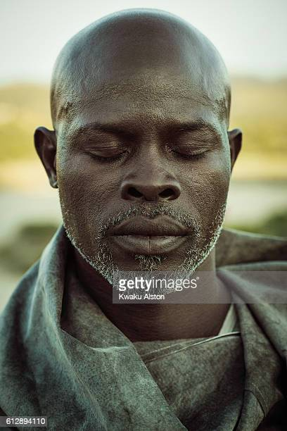Actor Djimon Hounsou is photographed for Spirit and Flesh on September 25 2015 in Los Angeles California