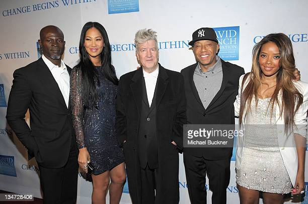 Actor Djimon Hounsou Kimora Lee Simmons director/musician David Lynch Russell Simmons and Angela Simmons attend the 3rd Annual Change Begins Within...