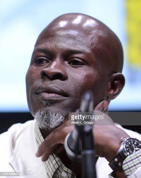 Actor Djimon Hounsou speaks onstage at Marvel Studios 'Thor The Dark World' and 'Captain America The Winter Soldier' during ComicCon International...