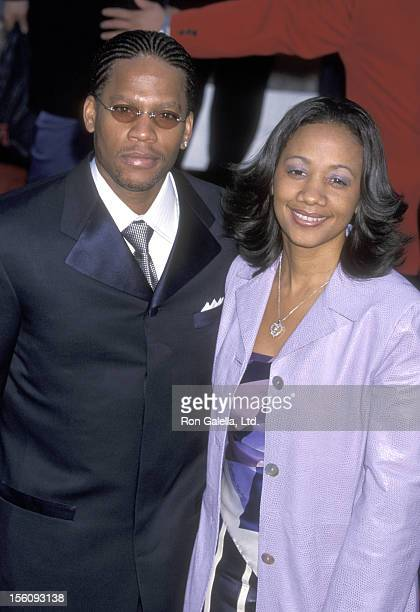 Actor DL Hughley and wife Ladonna Hughley attend the 43rd Annual Grammy Awards on February 21 2001 at Staples Center in Los Angeles California
