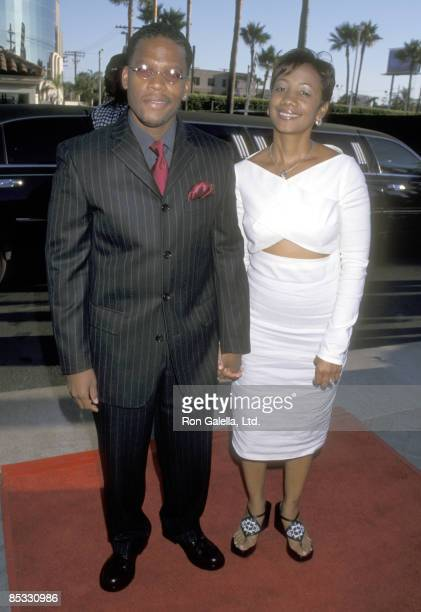 Actor DL Hughley and wife Ladonna Hugley attend the Hollywood Premiere of The Original Kings of Comedy on August 10 2000 at Paramount Studios in...
