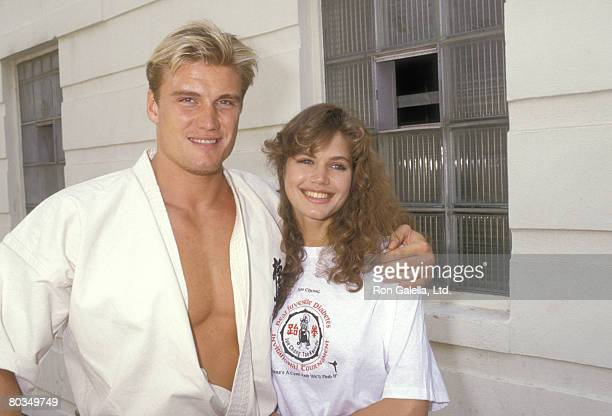Actor Dolph Lundgren and girlfriend Model Paula Barbieri attend the Jun Chong Tae Kwon Do Karate Tournament to Benefit the Juvenile Diabetes...