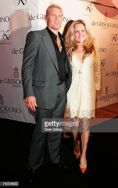 Actor Dolph Lundgren and his wife Anette Qviberg attend the de Grisogono party at Eden Rock during the 60th International Cannes Film Festival on May...