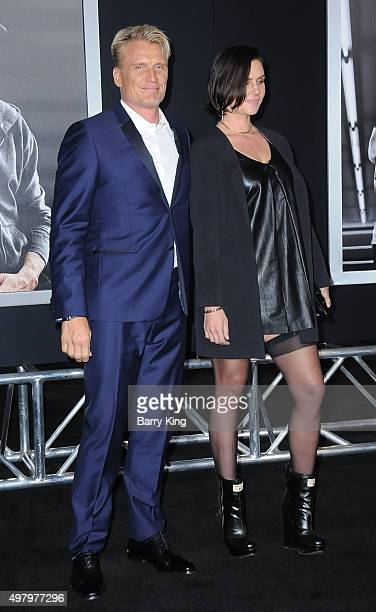 Actor Dolph Lundgren and Jenny Sandersson attend the Premiere Of Warner Bros Pictures' 'Creed' at the Regency Village Theatre on November 19 2015 in...