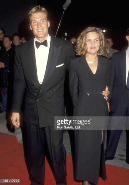 Actor Dolph Lundgren and wife Anette Qviberg attend the 18th Annual Saturn Awards on March 13 1992 at Universal Hilton Hotel in Universal City...