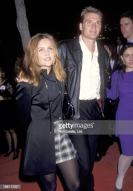 Actor Dolph Lundgren and wife Anette Qviberg attend the 'Dracula' Hollywood Premiere on November 10 1992 at Mann's Chinese Theatre in Hollywood...