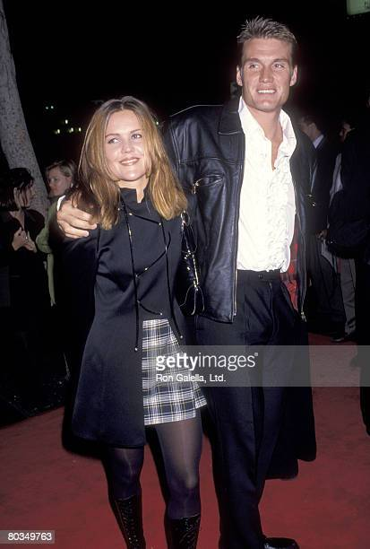 Actor Dolph Lundgren and wife Anette Qviberg attend the Dracula Hollywood Premiere on November 10 1992 at Mann's Chinese Theatre in Hollywood...
