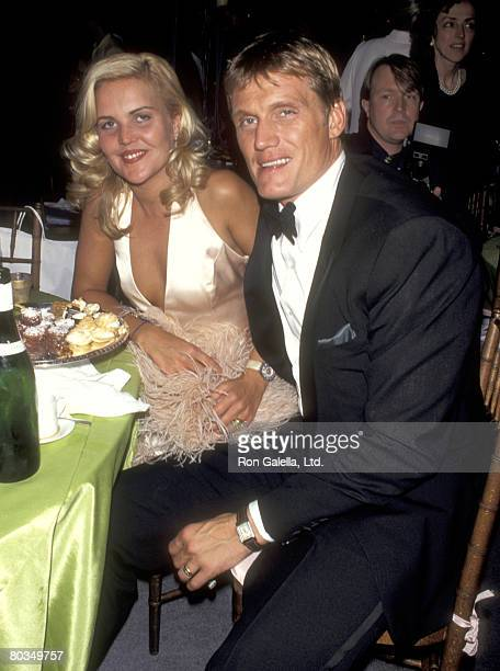 Actor Dolph Lundgren and wife Anette Qviberg attend the Grand Opening of Seventh on Sale on May 17 1995 at 26th Street Armory in New York City New...