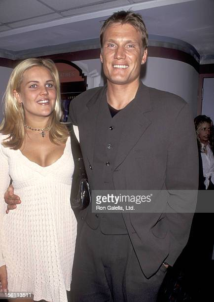 Actor Dolph Lundgren and wife Anette Qviberg attend the 'Johnny Mnemonic' New York City Premiere on May 22 1995 at Sony 19th Street Theater in New...