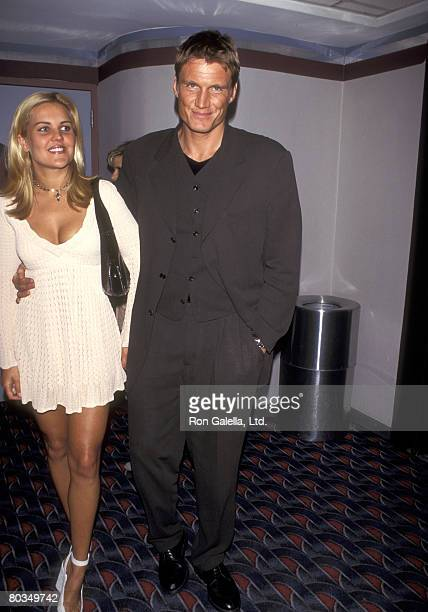 Actor Dolph Lundgren and wife Anette Qviberg attend the Johnny Mnemonic New York City Premiere on May 22 1995 at Sony 19th Street Theater in New York...