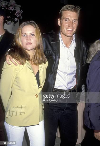 Actor Dolph Lundgren and wife Anette Qviberg attend the Party to Celebrate Kelly Klein's New Book 'Pools' on November 19 1992 at Beverly Hills Hotel...