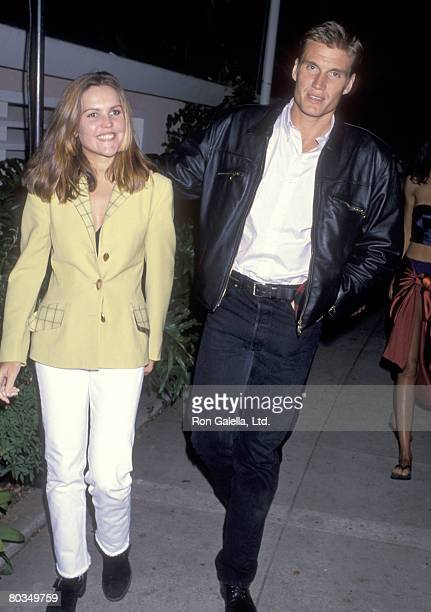 Actor Dolph Lundgren and wife Anette Qviberg attend the Party to Celebrate Kelly Klein's New Book Pools on November 19 1992 at Beverly Hills Hotel in...