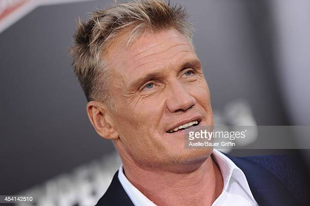 Actor Dolph Lundgren arrives at the Los Angeles premiere of 'The Expendables 3' at TCL Chinese Theatre on August 11, 2014 in Hollywood, California.