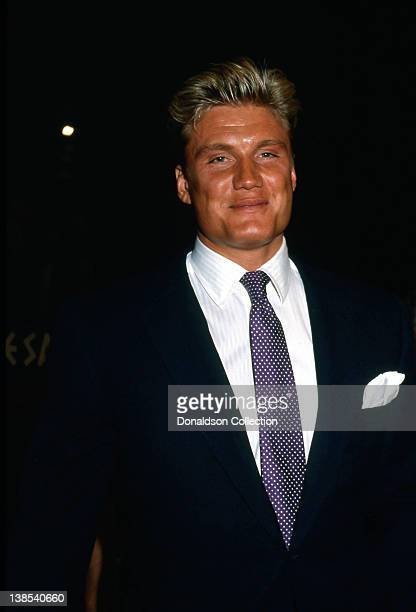 Actor Dolph Lundgren attends an event in 1986 in Los Angeles, California.