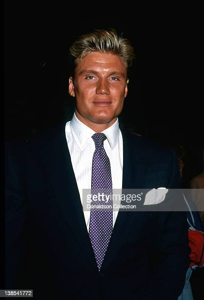 Actor Dolph Lundgren attends an event in 1986 in Los Angeles California