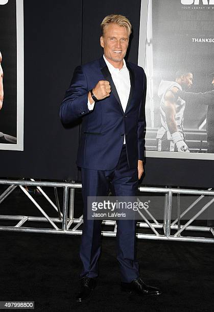 Actor Dolph Lundgren attends the premiere of 'Creed' at Regency Village Theatre on November 19 2015 in Westwood California