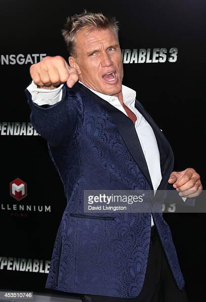Actor Dolph Lundgren attends the premiere of Lionsgate Films' The Expendables 3 at the TCL Chinese Theatre on August 11 2014 in Hollywood California
