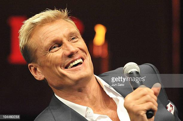 """Actor Dolph Lundgren attends the press conference for the """"The Expendables"""" at Shibuya AX on September 26, 2010 in Tokyo, Japan. The film opens in..."""