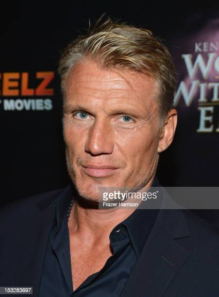 Actor Dolph Lundgren attends the screening of World Without End presented by ReelzChannel at The Grove on October 2 2012 in Los Angeles California