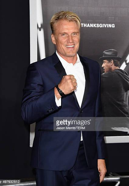 Actor Dolph Lundgren attends Warner Bros Pictures' 'Creed' Premiere at Regency Village Theatre on November 19 2015 in Westwood California