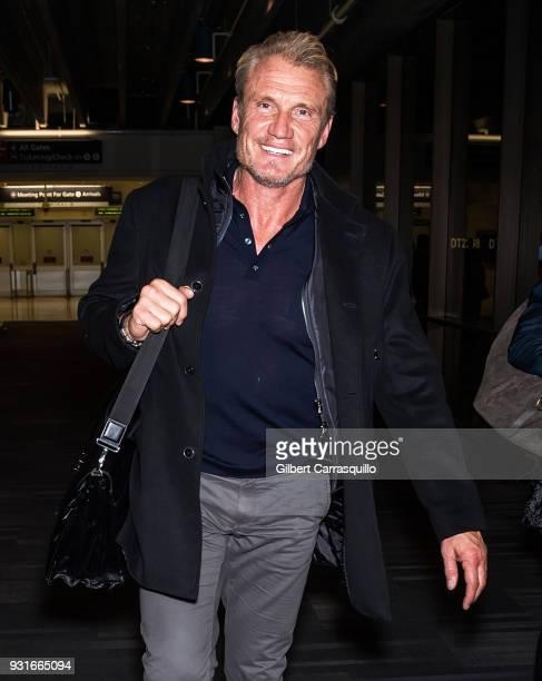 Actor Dolph Lundgren is seen arriving at Philadelphia International Airport on March 13, 2018 in Philadelphia, Pennsylvania.