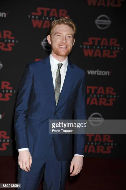 Actor Domhall Gleeson attends the premiere of Disney Pictures and Lucasfilm's 'Star Wars The Last Jedi' held at The Shrine Auditorium on December 9...