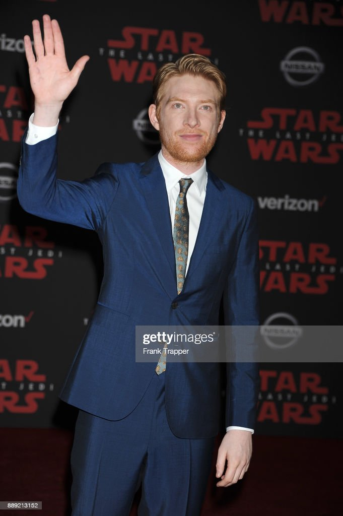 Actor Domhall Gleeson attends the premiere of Disney Pictures and Lucasfilm's 'Star Wars: The Last Jedi' held at The Shrine Auditorium on December 9, 2017 in Los Angeles, California.