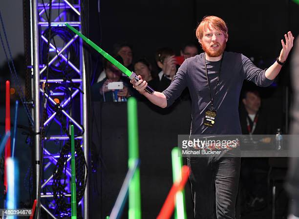 Actor Domhnall Gleeson and more than 6000 fans enjoyed a surprise 'Star Wars' Fan Concert performed by the San Diego Symphony featuring the classic...
