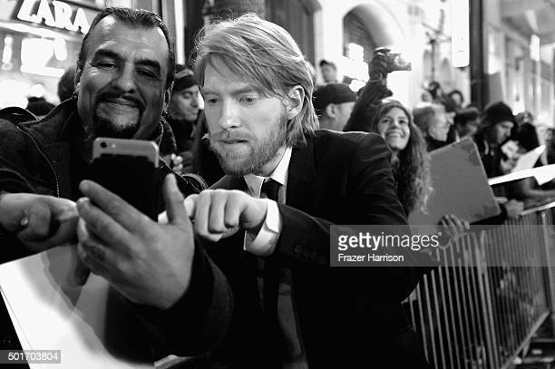 Actor Domhnall Gleeson arrives at the Premiere of 20th Century Fox and Regency Enterprises' The Revenant at TCL Chinese Theatre on December 16 2015...