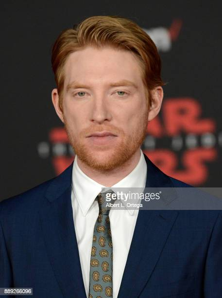 Actor Domhnall Gleeson arrives for the Premiere Of Disney Pictures And Lucasfilm's 'Star Wars The Last Jedi' held at The Shrine Auditorium on...