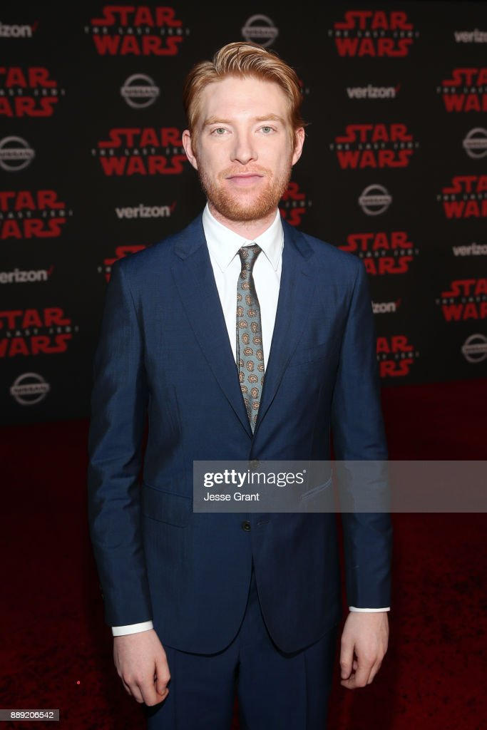 Actor Domhnall Gleeson at the world premiere of Lucasfilm's Star Wars: The Last Jedi at The Shrine Auditorium on December 9, 2017 in Los Angeles, California.
