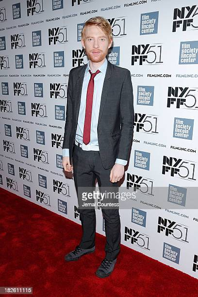 Actor Domhnall Gleeson attends the 'About Time' premiere during the 51st New York Film Festival at Alice Tully Hall at Lincoln Center on October 1...