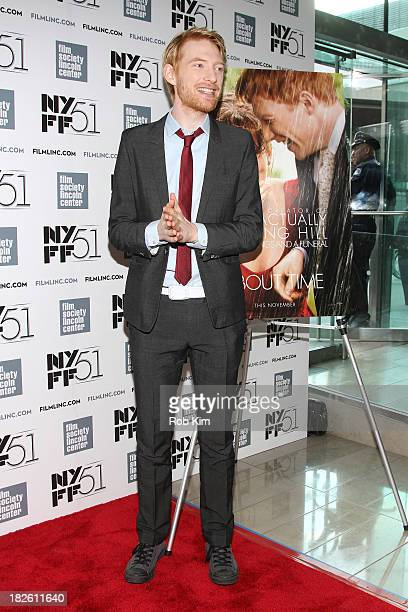 Actor Domhnall Gleeson attends the About Time premiere during the 51st New York Film Festival at Alice Tully Hall at Lincoln Center on October 1 2013...