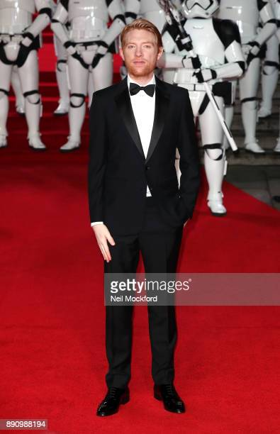 Actor Domhnall Gleeson attends the European Premiere of 'Star Wars The Last Jedi' at Royal Albert Hall on December 12 2017 in London England