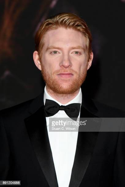 Actor Domhnall Gleeson attends the European Premiere of 'Star Wars: The Last Jedi' at Royal Albert Hall on December 12, 2017 in London, England.