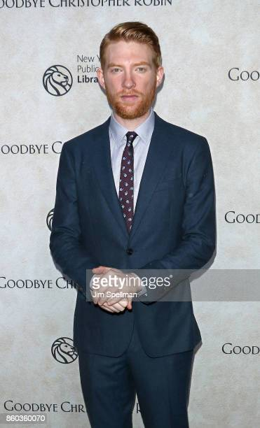 Actor Domhnall Gleeson attends the 'Good Bye Christopher Robin' New York special screening at The New York Public Library on October 11 2017 in New...