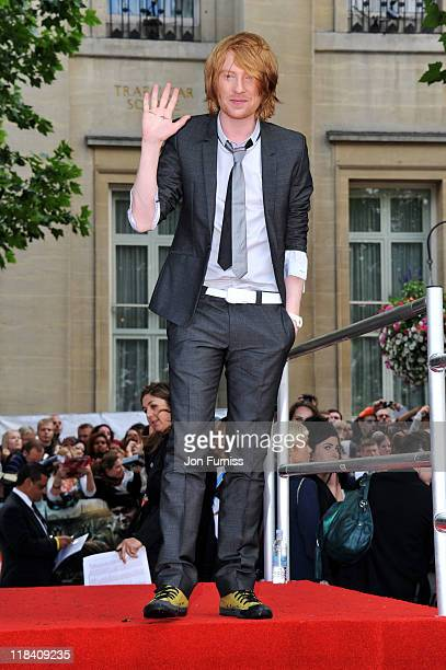 "Actor Domhnall Gleeson attends the ""Harry Potter And The Deathly Hallows Part 2"" world premiere at Trafalgar Square on July 7, 2011 in London,..."