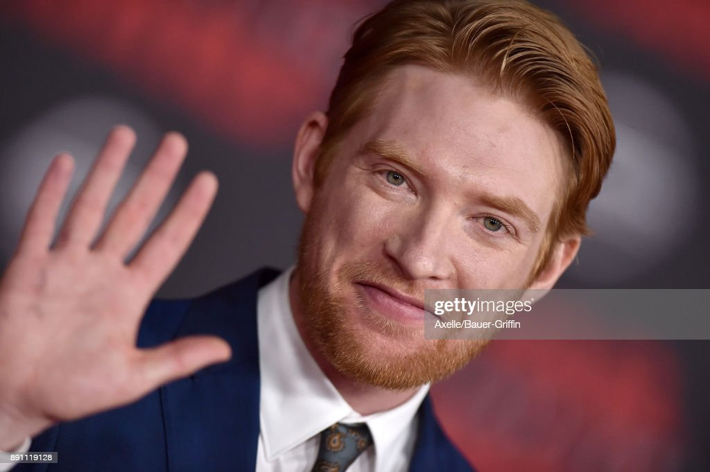 Actor Domhnall Gleeson attends the Los Angeles premiere of 'Star Wars: The Last Jedi' at The Shrine Auditorium on December 9, 2017 in Los Angeles, California.