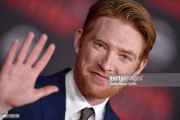 Actor Domhnall Gleeson attends the Los Angeles premiere of 'Star Wars The Last Jedi' at The Shrine Auditorium on December 9 2017 in Los Angeles...