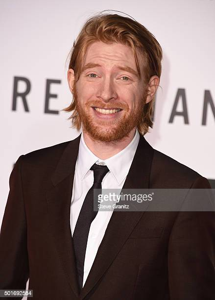 Actor Domhnall Gleeson attends the premiere of 20th Century Fox and Regency Enterprises' 'The Revenant' at the TCL Chinese Theatre on December 16...