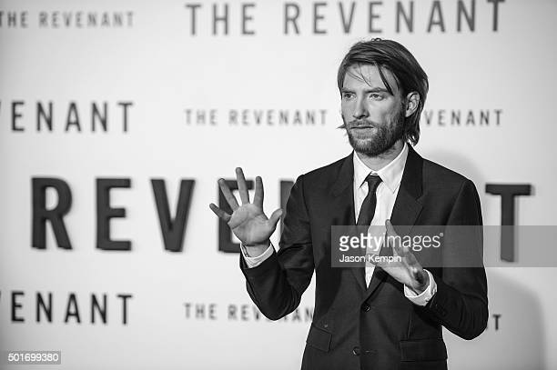 """Actor Domhnall Gleeson attends the premiere of 20th Century Fox's """"The Revenant"""" at TCL Chinese Theatre on December 16, 2015 in Hollywood, California."""