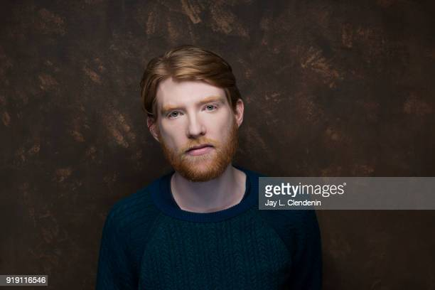 Actor Domhnall Gleeson from the film 'Futile and Stupid Gesture' is photographed for Los Angeles Times on January 22 2018 in the LA Times Studio at...
