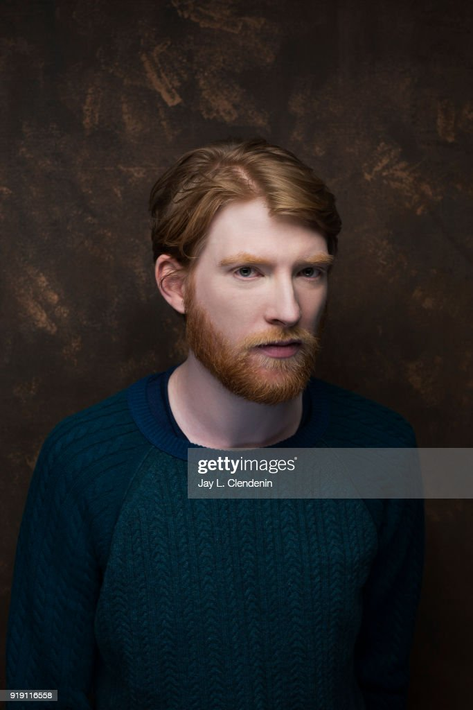 Actor Domhnall Gleeson, from the film 'Futile and Stupid Gesture', is photographed for Los Angeles Times on January 22, 2018 in the L.A. Times Studio at Chase Sapphire on Main, during the Sundance Film Festival. PUBLISHED IMAGE.