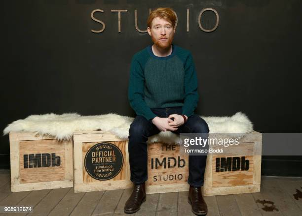 Actor Domhnall Gleeson of 'A Futile and Stupid Gesture' attends The IMDb Studio and The IMDb Show on Location at The Sundance Film Festival on...