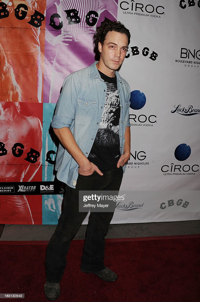 Actor Dominic Bogart arrives at the 'CBGB' Special Screening at ArcLight Cinemas on October 1, 2013 in Hollywood, California.