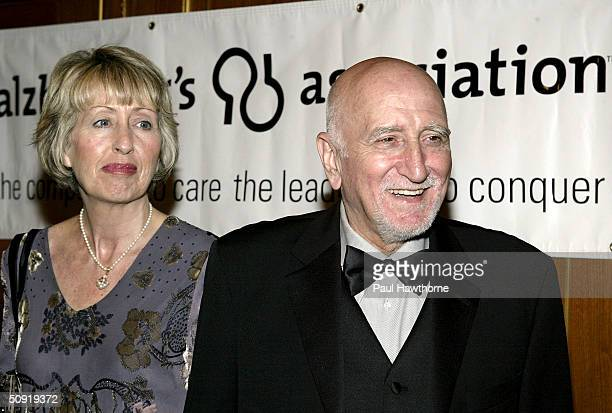 Actor Dominic Chianese and his wife Jane Pittson attend the Alzheimers Association ForgetMeNot Gala at the Pierre Hotel June 2 2004 in New York City