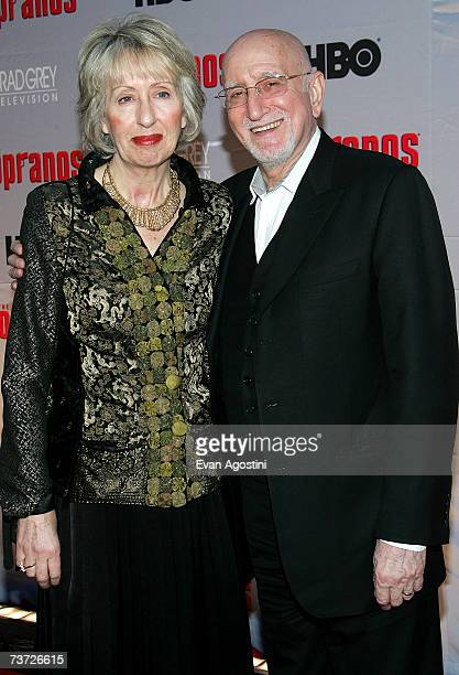 Actor Dominic Chianese and his wife Jane Pittson attend the HBO premiere of The Sopranos at Radio City Music Hall on March 27 2007 in New York City